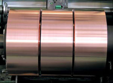 0.05mm Thickness Copper Foil Strips , Mill Finish Battery Copper Foil Laminate