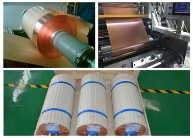 SGS Soft Annealed Rolled Copper Foil  For Mylar Tape Color Uniformity